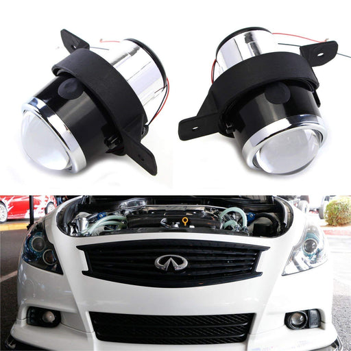 (2) OEM Replace Projector Fog Light Housings For Nissan Altima Rogue Maxima Sentra, Infiniti M35 M45 G37 etc., HID or LED Ready (Bulbs Not Included)-iJDMTOY