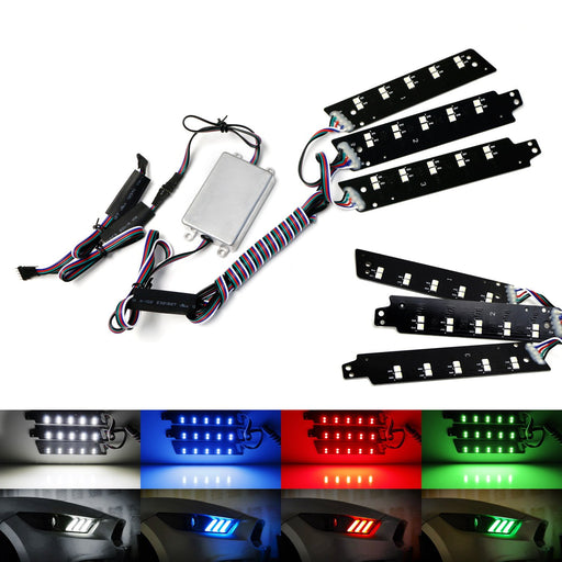 RGBW Multicolor LED DRL Board Lighting Kit For 2015-2017 Ford Mustang, Smartphone Remote Controlled-iJDMTOY