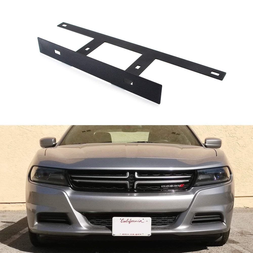 No Drill Required Front License Plate Mounting Bracket Relocator For 2015-up Dodge Charger-iJDMTOY