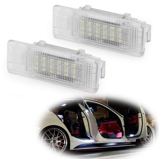 Xenon White LED Step Courtesy Lights For BMW E39 5 Series, E53 X5, Z8, Powered by 3W 18-SMD LED Lights, Replace OEM Footwell, Side Door Lamps-iJDMTOY