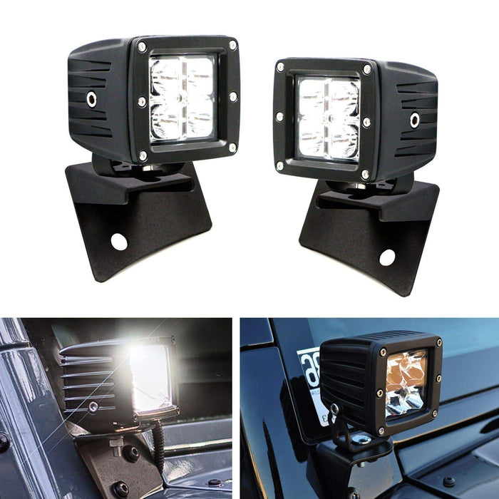 "Mounting Bracket 2007~18 For Jeep Wrangler JK install 4X 3/"" 16//24W Cube Pod Lamp"