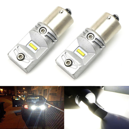 High Output 30W CREE Reversing Fire 1156 7506 or 7440 7444 LED Replacement Bulbs For Car Backup Reverse Lights, 6000K Xenon White-iJDMTOY