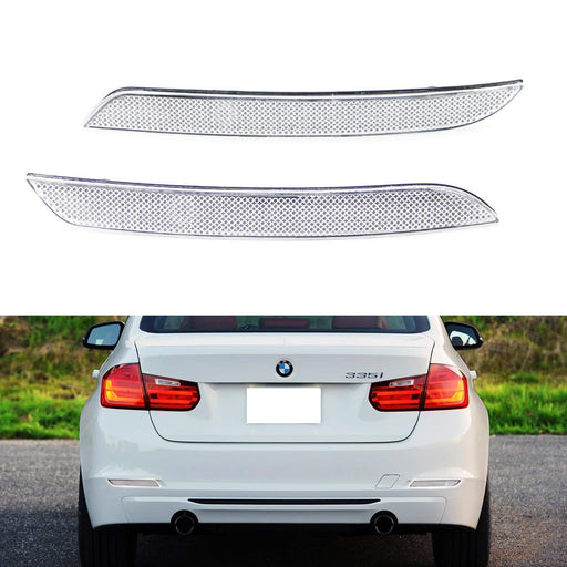 Clear or Smoked Lens Rear Bumper Reflector Lenses For BMW F30 F31 F32 F33 3 4 Series Regular Bumper, OE-Spec LH RH Assembly (Will NOT Fit Sports Bumper or M3/M4)-iJDMTOY