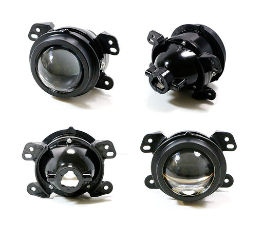 (2) OEM Replace Projector Fog Light Housings For Jeep Wrangler, Grand Cherokee, Dodge Charger Journey Magnum etc., HID or LED Ready (Bulbs Not Included)-iJDMTOY