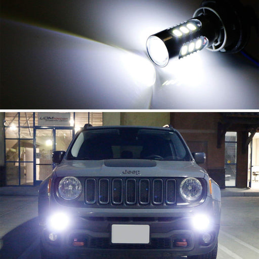 6500K White LED Daytime Running Light DRL Replacement Bulbs For 2015-2018 Jeep Renegade-iJDMTOY
