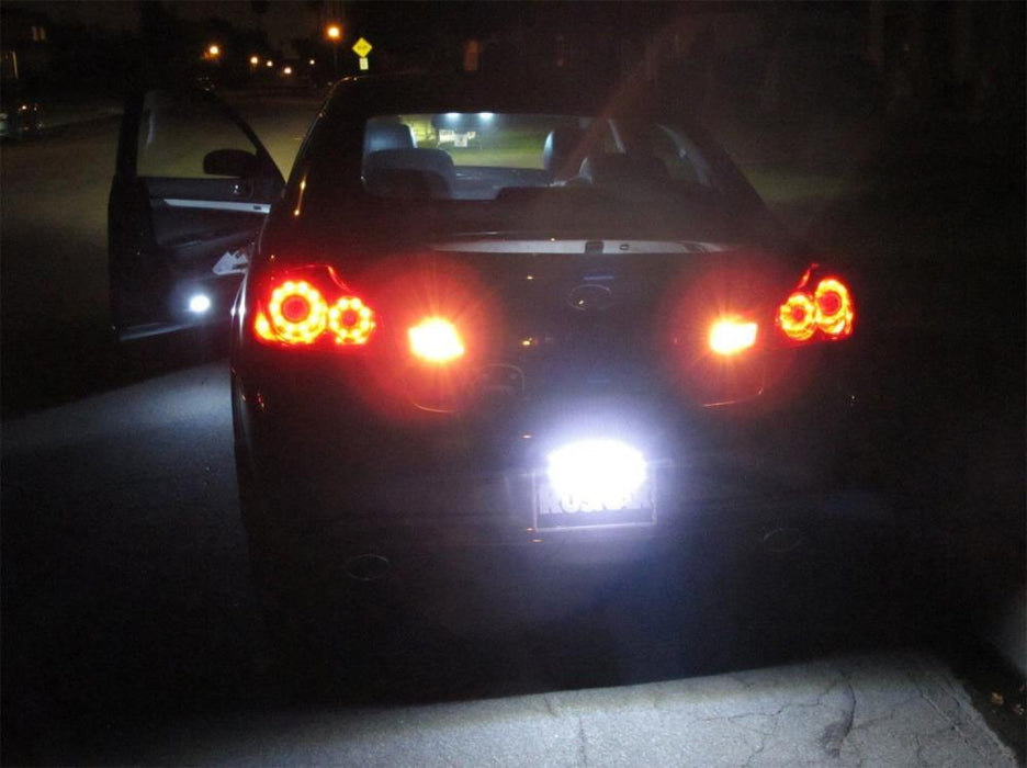 Angle Tilt'able 24-SMD Bolt-On LED Lamps For License Plate Lights or Backup Reverse Lights, Xenon White-iJDMTOY