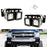 LED Pod Light Fog Lamp Kit For 2007-14 Chevy Silverado 1500 2500 3500 HD, Includes (4) 20W High Power CREE LED Cubes, Foglight Location Mounting Brackets