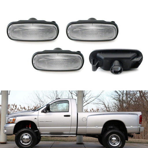 Amber/Red LED Trunk Bed Marker Lights Set For 2003-09 Dodge RAM 2500HD 3500HD Dually Truck Double Wheel Side Fenders, Powered by Total 20 LED-iJDMTOY