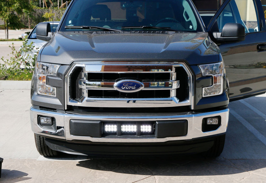 Lower Grille Mount Led Light Bar Kit For 2015 Up Ford F150 Xlt Lariat And Limited 1 96w Led Lightbar Bumper Opening Mounting Brackets Wiring