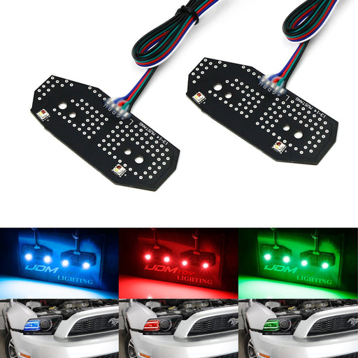 RGBW Multicolor LED DRL Board Lighting Kit For 2013-2014 Ford Mustang, Smartphone Remote Controlled-iJDMTOY