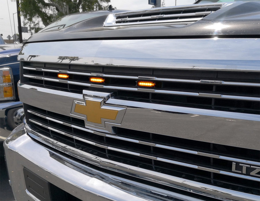 15-up Chevy Silverado 2500 3500 Amber LED Grille Lights ...