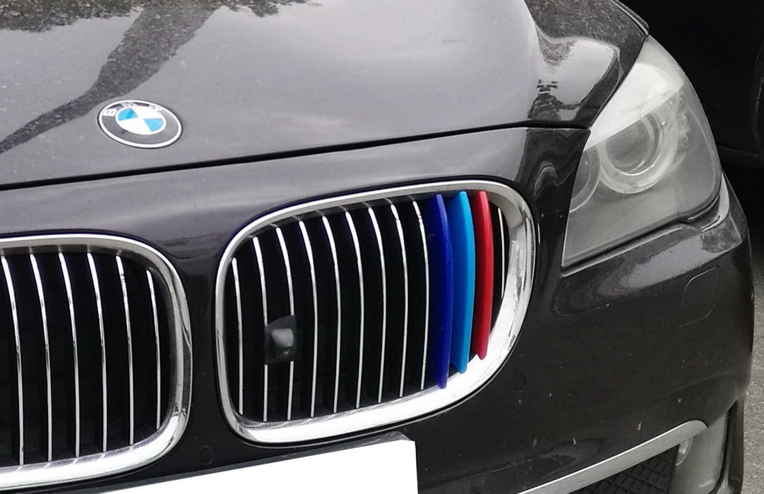 ///M-Colored Grille Insert Trims For 2013 2014 2015 BMW F01/F02 7 Series 740i 740Li 750i 750Li etc with 9 Standard Grille Beams-iJDMTOY