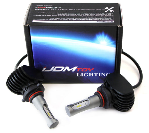 50W High Power 9005 HB3 LED Headlight Bulbs w/Decoder Wiring For High Beam Daytime Running Light Conversion