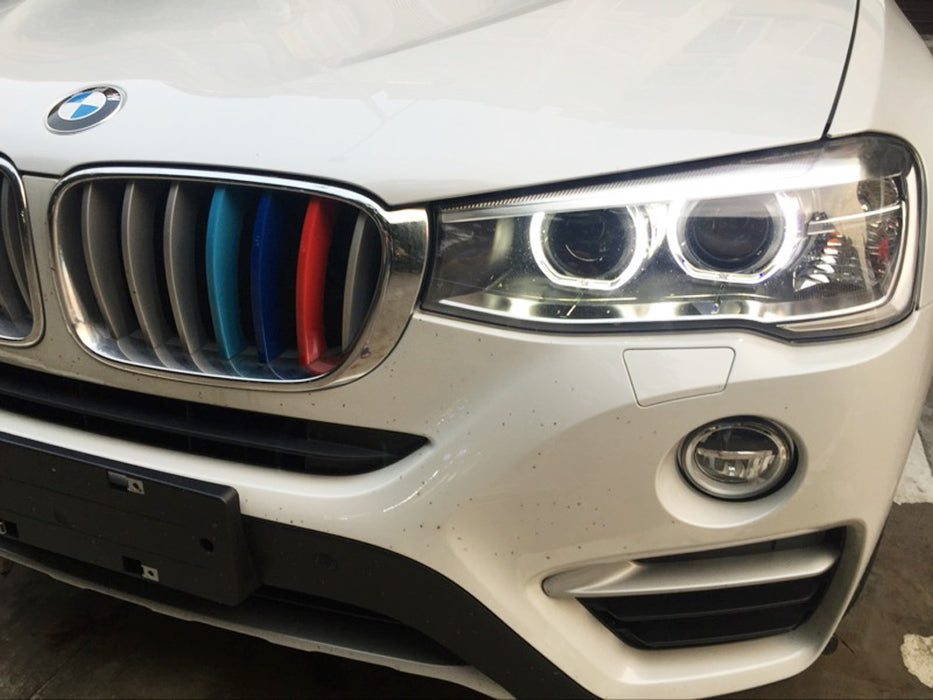 License Plate Scanner >> BMW F25 X3 F26 X4 Kidney Grille M-Colored Grill Insert ...