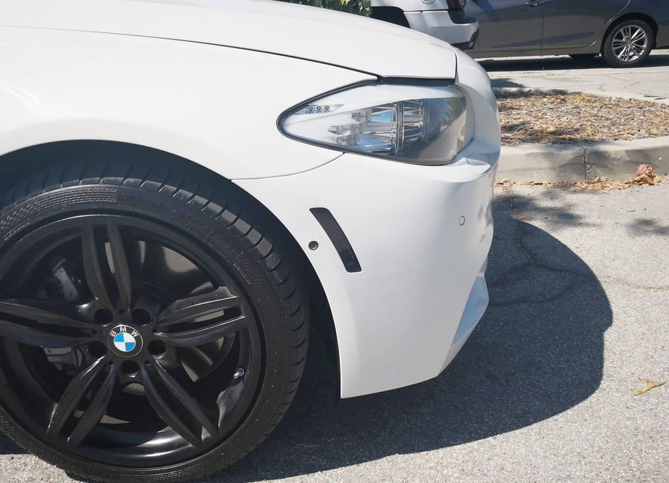 Clear len Crystal Clear//Smoke Lens Front Bumper Side Markers Light Reflector Fender Replacement for 2011-16 BMW F10 F11 5 Series 525i 528i 530i 535i 545i 550i
