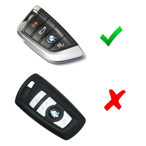 Chrome Finish TPU Key Fob Protective Cover Case For 2016-up BMW X1, 2014-up BMW X5, 2015-up BMW X6, 2017-up BMW 5 Series & 2016-up BMW 7 Series-iJDMTOY