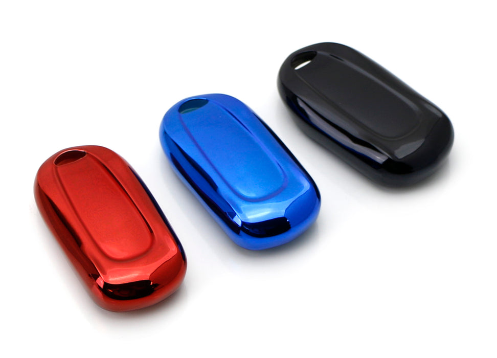 Black, Blue or Red Finish TPU Key Fob Protective Cover Case For 2016-up Buick Envision, 2017-up Buick LaCrosse Encore, 2018-up Buick Regal Enclave-iJDMTOY
