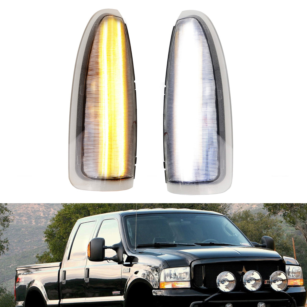 Smoked Lens LED Side Mirror Marker Lights For 2003-2007 Ford F250 F350 Superduty