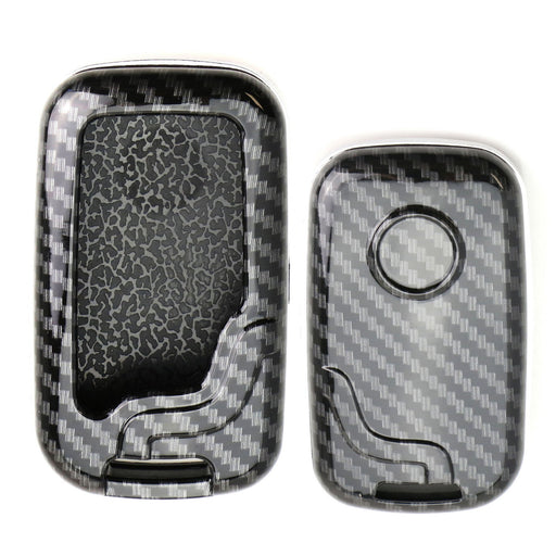 "Exact Fit Black Glossy""Carbon Fiber"" Pattern Key Fob Shell For Lexus IS ES GS LS CT LX GX RX, etc 1st Gen Smart Keyless Fob"
