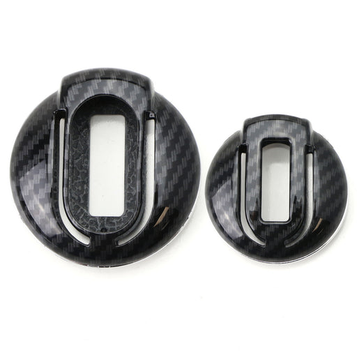 "Exact Fit Black Glossy""Carbon Fiber"" Pattern Key Fob Shell For 2014/2015-up 3rd Gen MINI Cooper F55 F56, 2017-up 2nd Gen F60 Countryman"