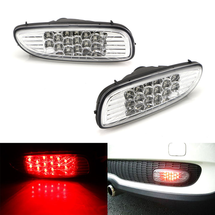 Clear or Smoked Lens LED Rear Fog Running Lamps Assy For MINI Cooper R56  R57 R58 R59, Union Jack Style Lenses, Function as Rear Fog/Running Lights