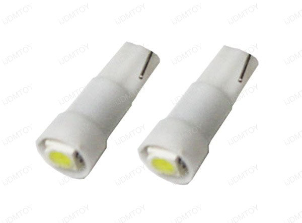 1-SMD-1210 T5 (aka T4) LED Wedge Bulbs 37 73 74 79 For Gauge Cluster Dashboard Background Lights-iJDMTOY