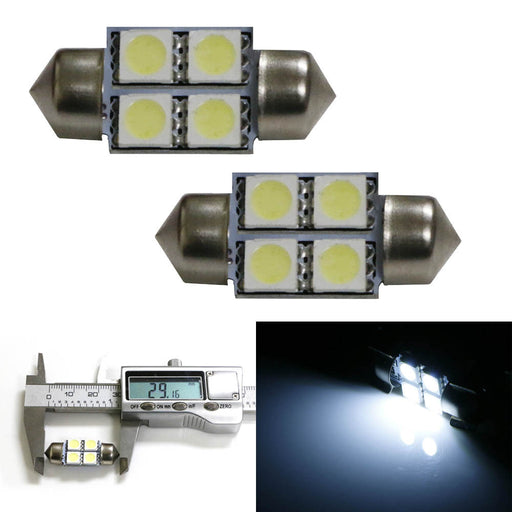 4-SMD-5050 Shorter Version 29mm DE3175 DE3021 DE3022 Festoon LED bulbs For Lexus Toyota Scion or Subaru for Center Dome Light Or Trunk Area Lights-iJDMTOY