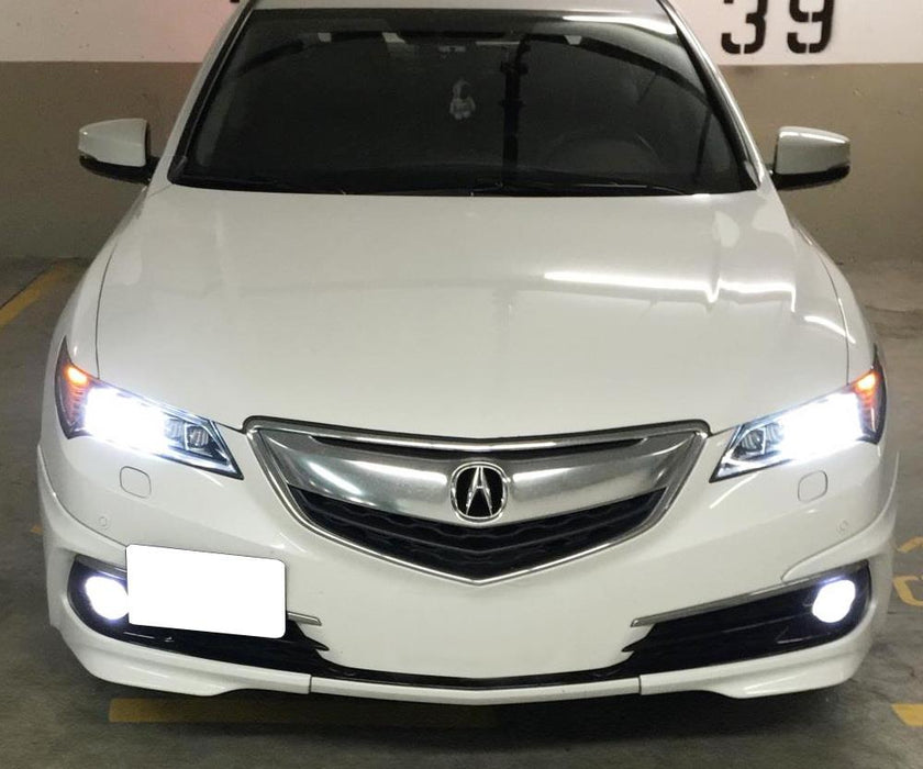 2015-up Acura TLX Tow Hook Front License Mounting Bracket