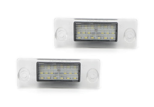 OEM-Fit 3W Full LED License Plate Light Kit For 1998-01 Audi A4 S4 (B5 Model), Powered by 18-SMD Xenon White LED-iJDMTOY