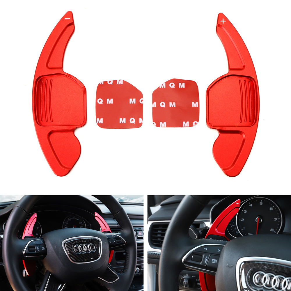 Topsmart Steering Wheel Paddle Shifter Extensions For Audi Aluminum Alloy Shift Paddle Blades Compatible for Audi A3 A4 A5 S3 Q2 Q7 S4 TT TTS 2016-2019 Blue