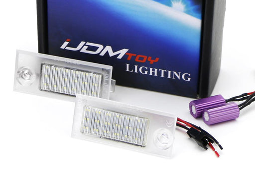 OEM-Fit 3W Full LED License Plate Light Kit For 1997-2004 Audi A6 S6 Sedan ONLY, Powered by 18-SMD Xenon White LED & Can-bus Error Free-iJDMTOY