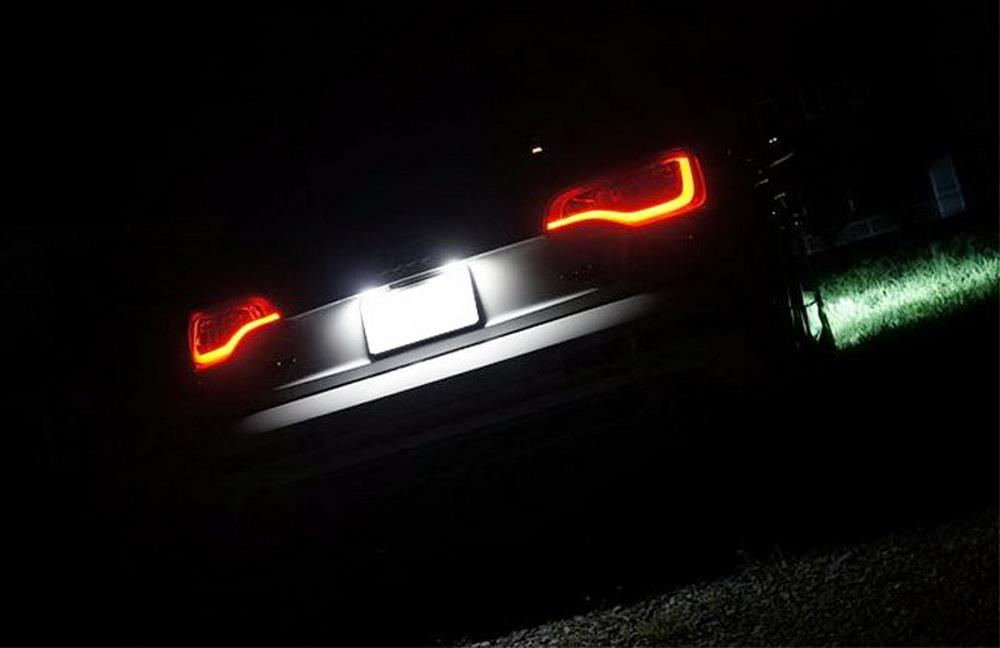 2x 18 LED License Number Plate Light Lamp For Audi A3 S3 A4 S4 B6 A6 S6 A8 K0B3