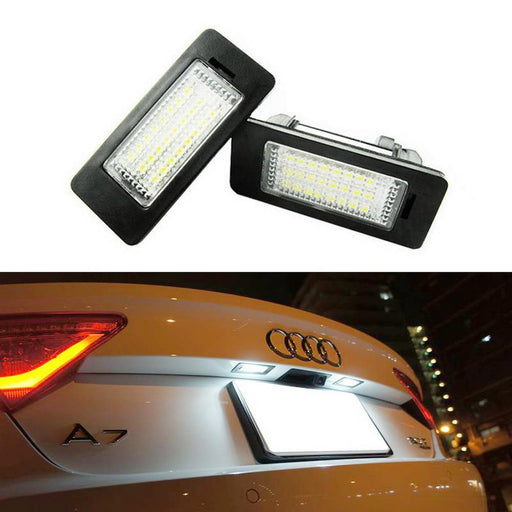 OEM-Fit 3W Full LED License Plate Light Kit For Audi A1 A6 A7 Q5 TT, Volkswagen Jetta Passat Touareg Touran, Powered by 18-SMD Xenon White LED & Can-bus Error Free-iJDMTOY