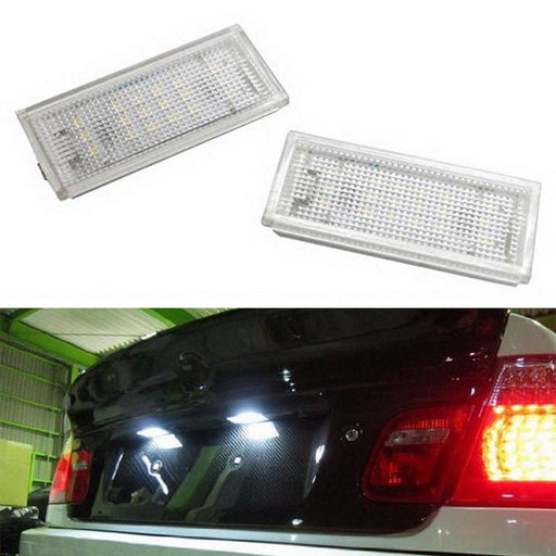 OEM-Fit 3W Full LED License Plate Light Kit For 2004-06 BMW E46 325ci 330ci M3 2-Coor Coupe, Powered by 18-SMD Xenon White LED-iJDMTOY