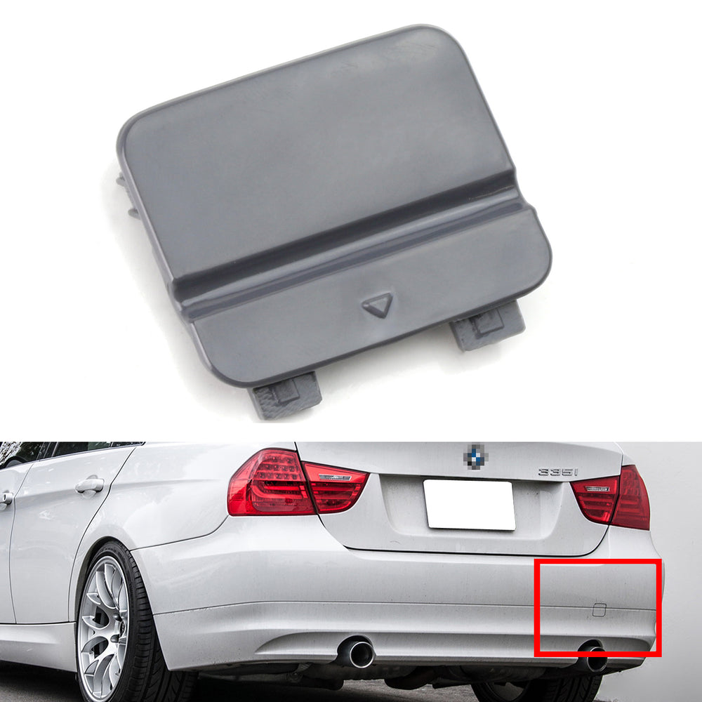 Rear Bumper Tow Hook Cover Compatible with 2015-2018 BMW X4 Primed with M Sport Package