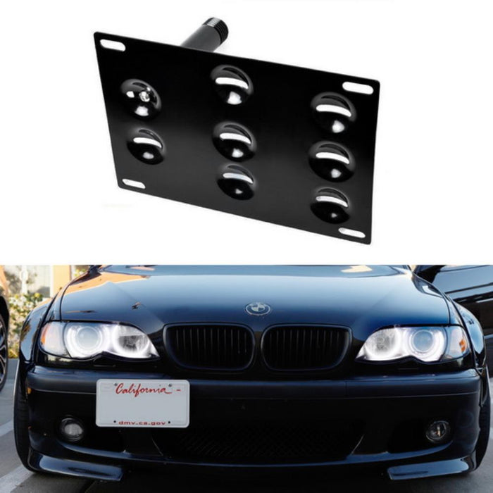 runmade Front Bumper Tow Hook Adapater License Plate Mounting Bracket Holder for Mini Cooper S 01-13 R50 R56 R57