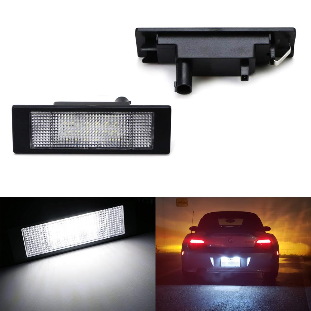 OEM-Fit 3W Full LED License Plate Light Kit For BMW 1 6 Series Z4 X2 & i3, Powered by 24-SMD Xenon White LED & Can-bus Error Free-iJDMTOY