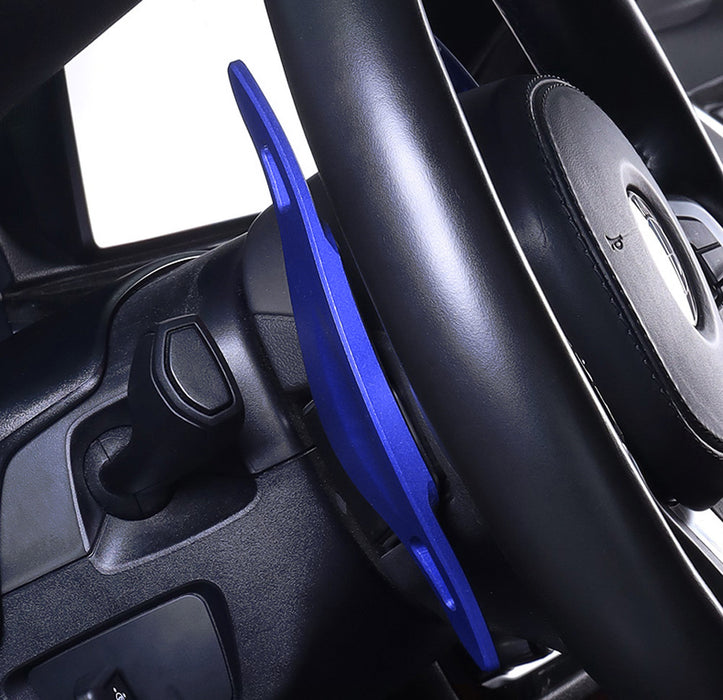 Blue Steering Wheel Paddle Shifter Extension For