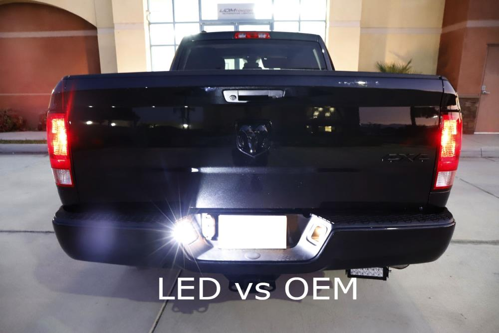 Pickup Truck 2-Pieces replacement for Dodge RAM 1500 2500 3500 Trucks 2003-2018 Dodge RAM 1500 Classic 2019 License Plate Light LED Lamp Assembly