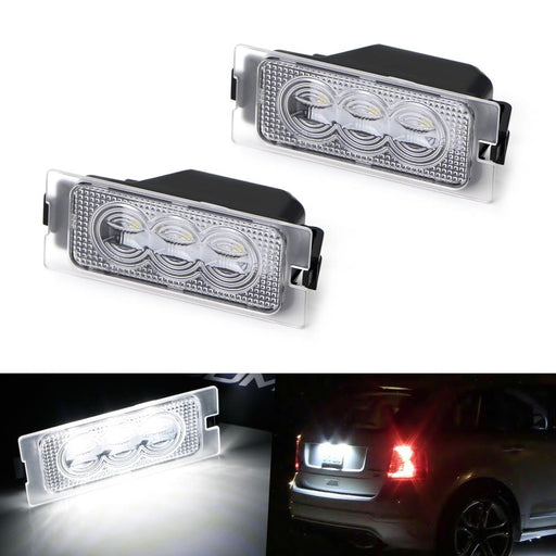 OEM-Fit 3W Full LED License Plate Light Kit For 2007-14 Ford Edge, 08-12 Ford Escape & 08-11 Mercury Mariner, Powered by 3-piece Osram Xenon White LED-iJDMTOY