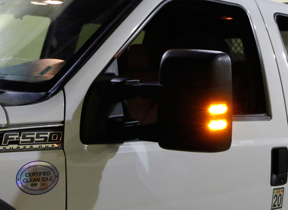 iJDMTOY Smoked Lens Amber LED Side Mirror Marker Lamps For 2008-16 Ford F250 F350 F450 Super Duty 2