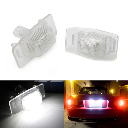 OEM-Fit 3W Full LED License Plate Light Kit For Ford Escape Mazda MX-5 Miata Protege, Powered by 18-SMD Xenon White LED-iJDMTOY