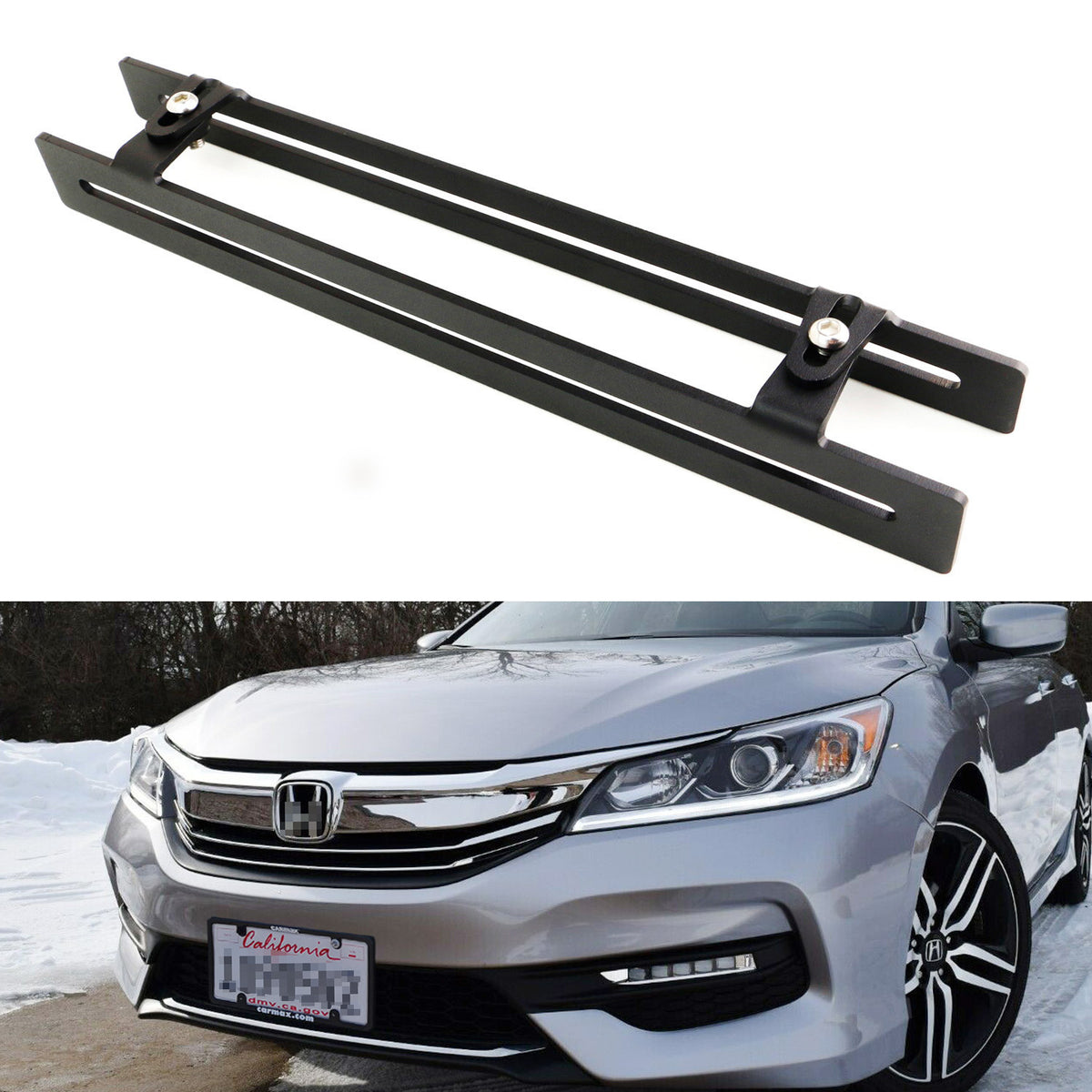 Compatible with 2008-2010 Honda Accord Sedan Bumper Billet Grille Insert S18-A09566H