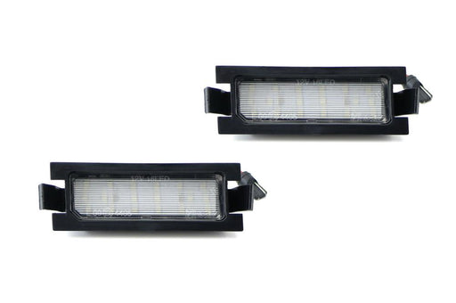 OEM-Fit 3W Full LED License Plate Light Kit For 2012-17 Hyundai Accent & 13-17 Elantra GT Hatchback, Powered by 18-SMD Xenon White LED-iJDMTOY