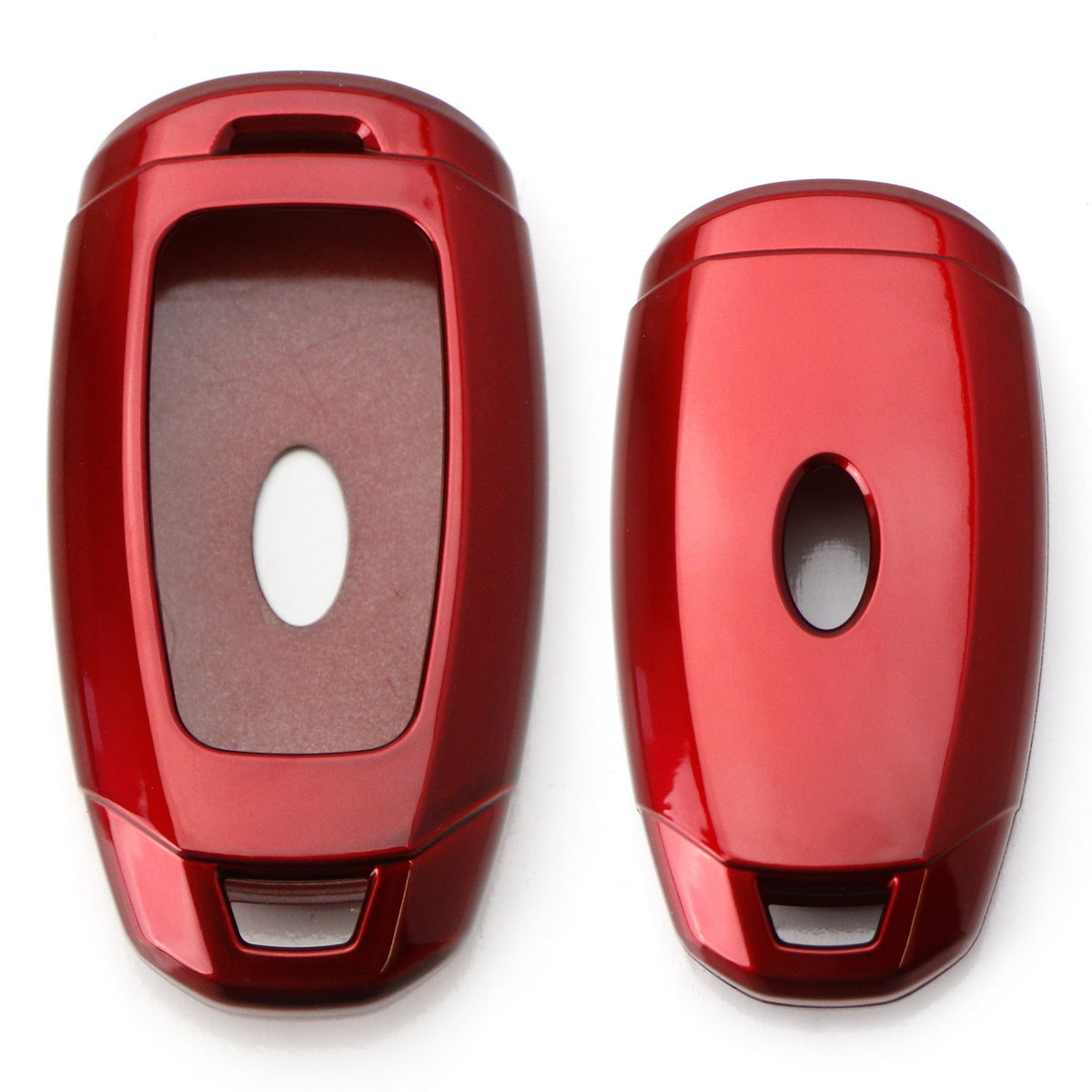 SEGADEN Paint Metallic Color Shell Cover Hard Case Holder Compatible with HYUNDAI Santa Fe ix45 Smart Remote Key Fob 3 Button SV0104 Red