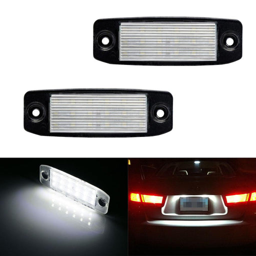 OEM-Fit 3W Full LED License Plate Light Kit For 11-14 Hyundai Sonata YF i45 i40, Powered by 18-SMD Xenon White LED-iJDMTOY