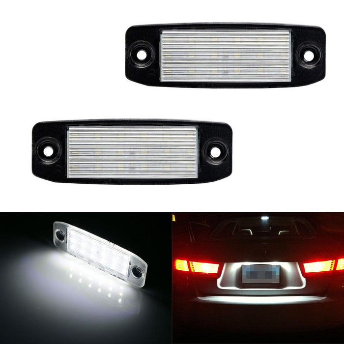 OEM-Fit 3W Full LED License Plate Light Kit For 11-14 Hyundai Sonata YF i45  i40, Powered by 18-SMD Xenon White LED