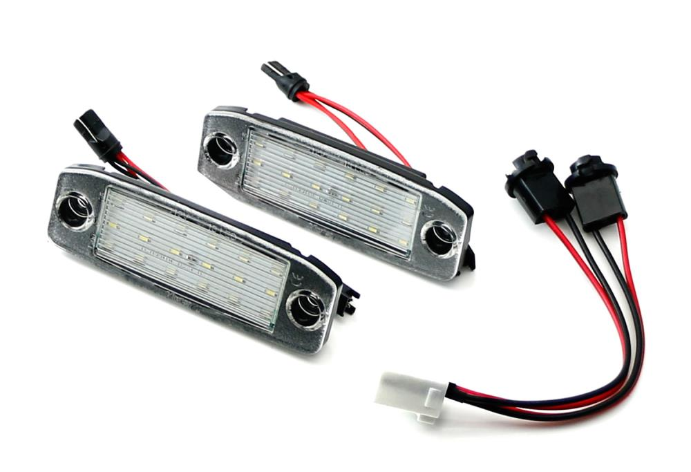 OEM-Fit 3W Full LED License Plate Light Kit For 2005-09 Hyundai Tuscon & 11-16 Kia Sportage, Powered by 18-SMD Xenon White LED-iJDMTOY