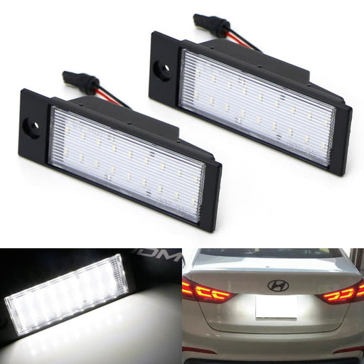 OEM-Fit 3W Full LED License Plate Light Kit For 2016-up Hyundai Tucson IX35, Powered by 18-SMD Xenon White LED-iJDMTOY