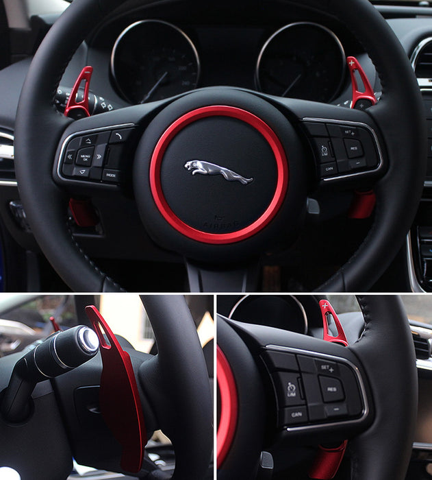 AioeEI Car Aluminum Alloy Steering Wheel Shift Paddle Shifter Extension,for Jaguar XF XE//Land Rover Evoque Discovery